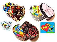 Жвачки Love is в подарочной коробке 30 шт (вкусные подарки)