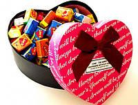 Жвачки Love is в подарочной коробке 70 шт ( подарки на день влюбленных )
