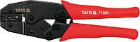 Клещи для обжимки клемм 220мм с трещоткой YATO (YT-2250)