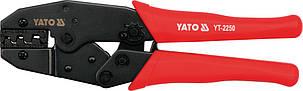 Клещи для обжимки клемм 220мм с трещоткой YATO (YT-2250), фото 2