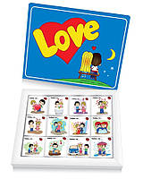 Шоколадный набор Love is 60 г (подарки на 8 марта)