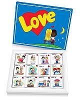 Шоколадный набор любимым Love is 12 шок ( подарки на 14 февраля )