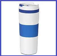 Термокружка вакуумная Travel Синяя 400 мл ( корпоративный подарок )