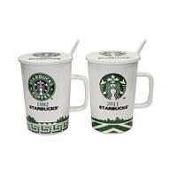 Чашка с крышкой и ложкой Starbucks, 400мл