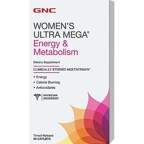 GNC WOMENS ULTRA MEGA ENERGY METABOLISM 90caplets