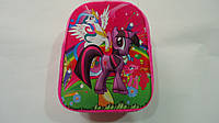 """Детский 3D рюкзак """"My Little Pony"""",330*260*80мм,ТМ Копыця .Плюшевый детский рюкзачок  """"Мой Маленький Пони"""" с р"""