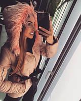Женсая куртка с мехом ламы