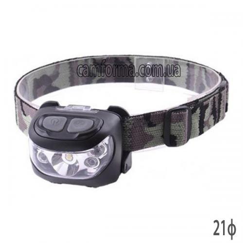 Фонарь на лоб 1White+2Red+2Blue LED арт (X-BALOG 926) Ф21