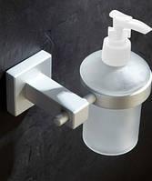 Дозатор белый для жидкого мыла настенный для супермаркета кафе ресторана магазина, фото 1