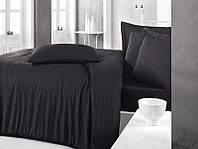 Постельное белье Sateen Strip семейный (ТМ CLASY), черный Турция