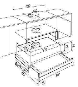 Вытяжка кухонная Teka TL 2000 нерж. сталь (старий код 40474004) 40474008, фото 2
