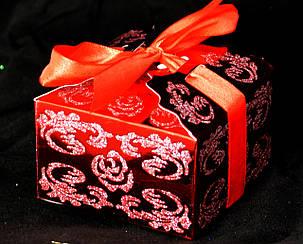 Упаковка подарочная расписная красная, фото 2