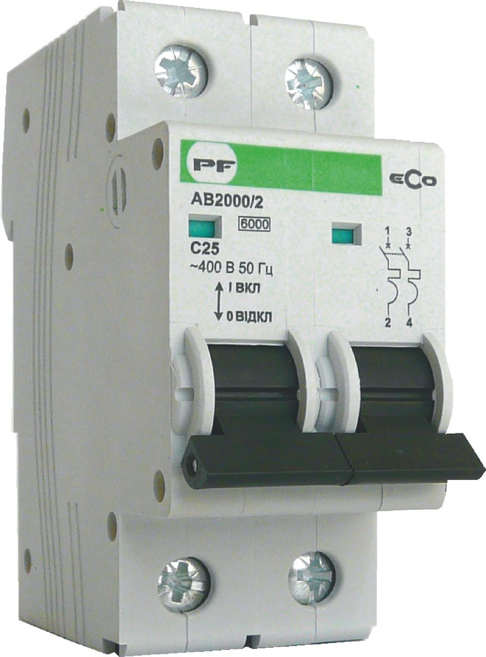 Автоматический выключатель ECO AB2000 2р 6А 6кА
