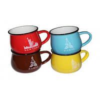 Чашка винтажная Zakka голубая, 450мл ( Оригинальный подарок )
