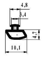 Уплотнитель притвора 3405 алюм. черн. ТПЕ 300м