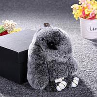 Брелок меховой Кролик Серебро (подарки на 8 марта)