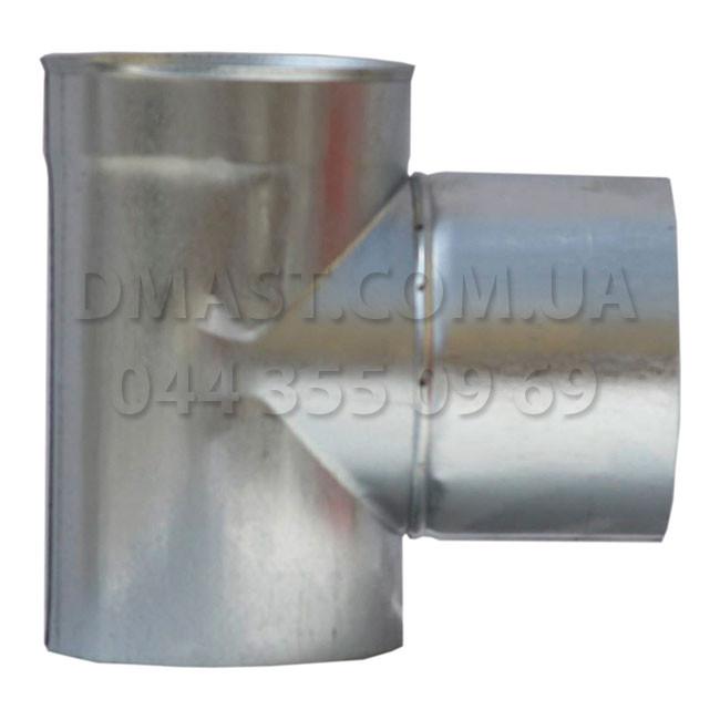Тройник вентиляционный оцинковка ф100, 87гр