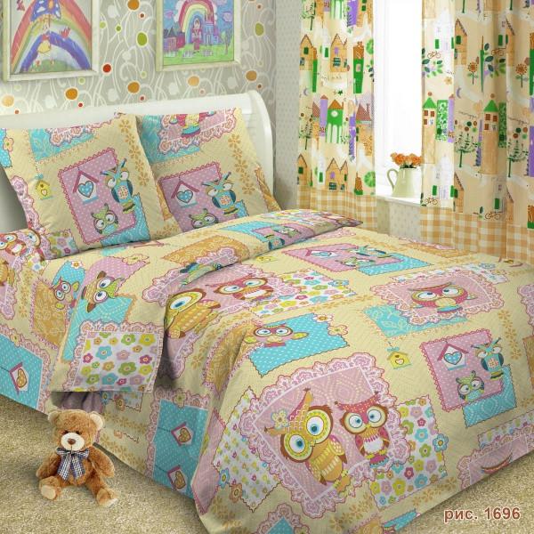 b12d7f97ee33 Постельное белье для детей, Совы поплин, подростковое полуторное постельное  белье