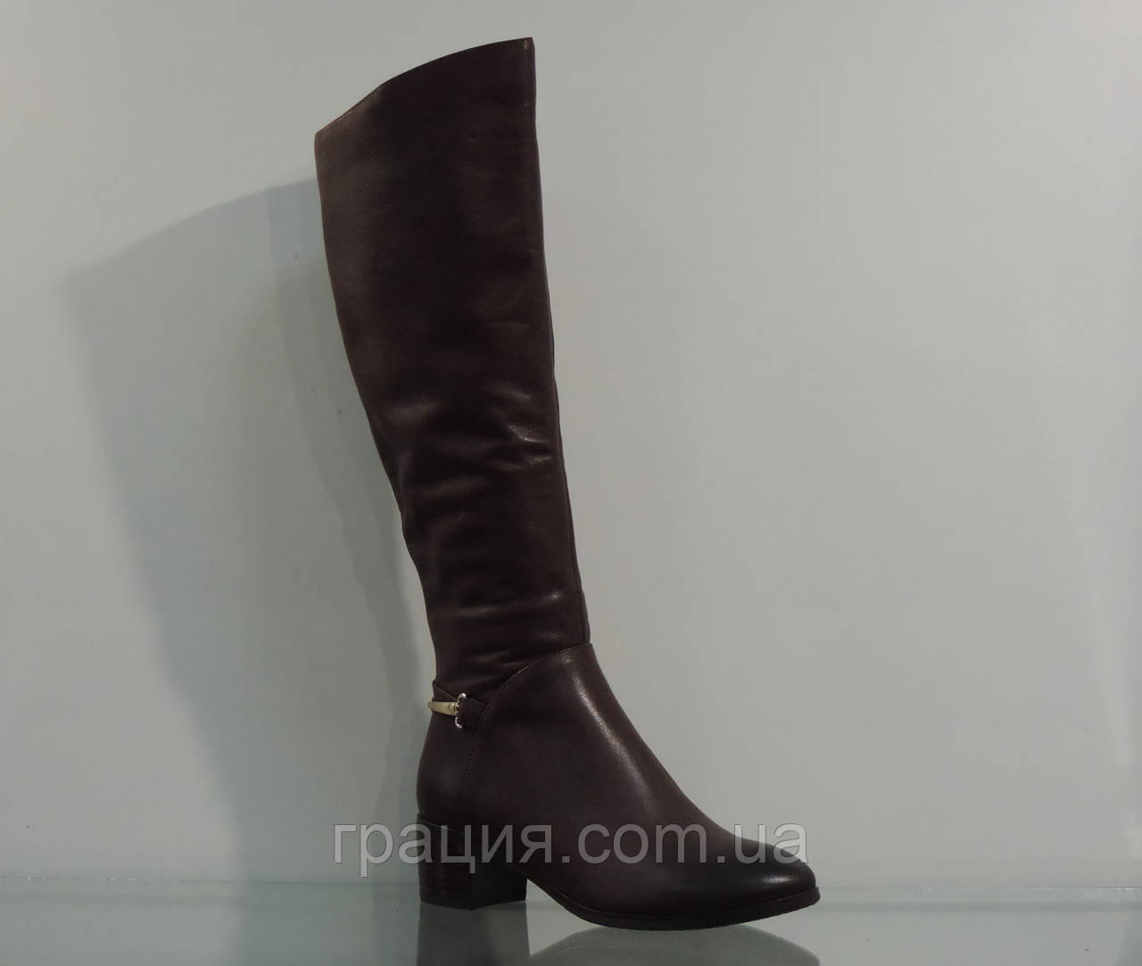 Сапоги женские зимние кожаные с натуральным мехом