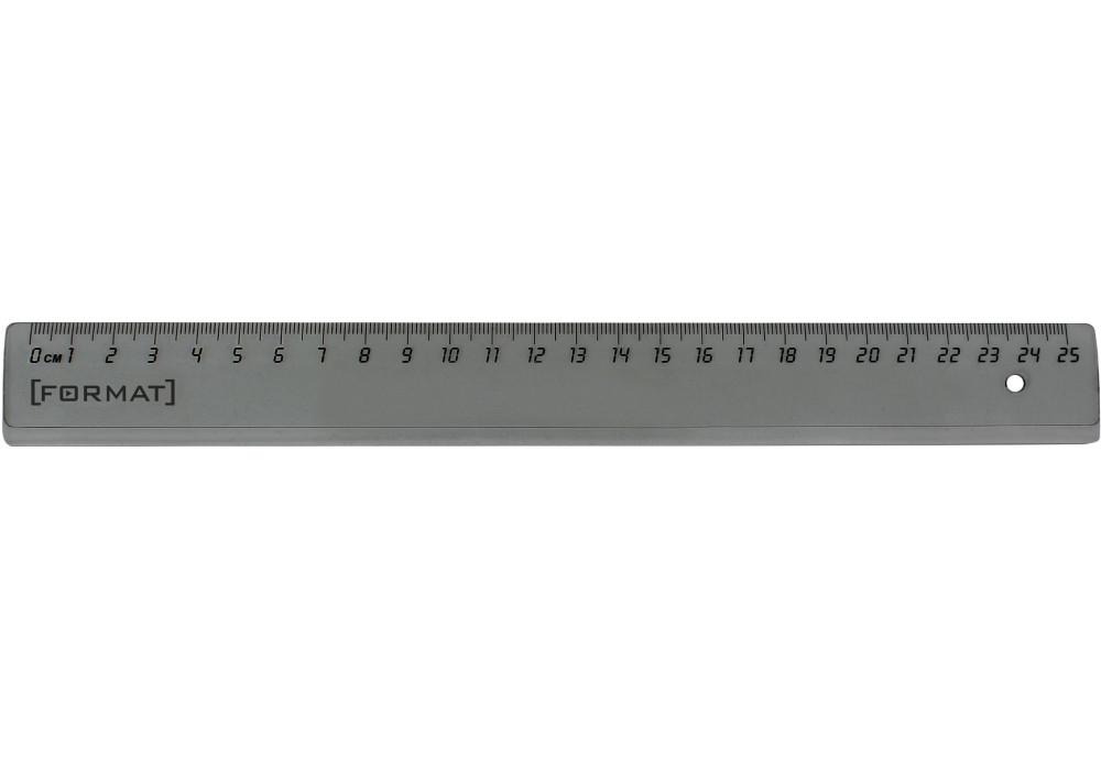 Линейка 25 см пластиковая Format F81362, затемненная