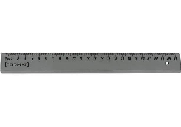 Линейка 25 см пластиковая Format F81362, затемненная, фото 2
