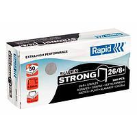 Скобы стандартные 26/8 Rapid, (5000 шт) SuperStrong
