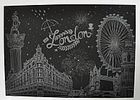 Скретч картина Ночной Лондон