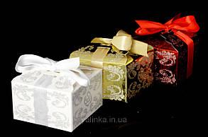 Упаковка подарочная расписная золотая, фото 2