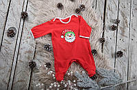 "Новогодний комбинезон ""Little Santa"", размер 62,68,74,80"
