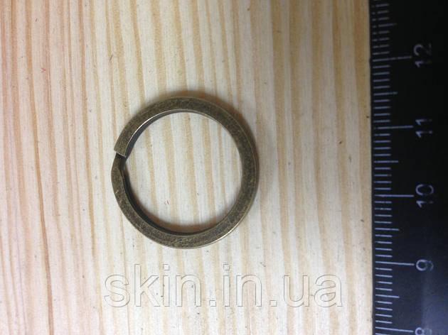Кольцо ключное плоское, внутренний диаметр 20 мм, толщина 1,8 мм, цвет - антик, артикул СК 5075, фото 2