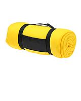 Компактный плед с ручкой Желтый