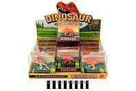 Зві3587 Набір  динозаврів муз.  (коробка 12 шт. ) ТВ001 р.9,5х4,5х9см.