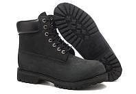 Ботинки Classic Timberland 6 inch Black Boots High Quality