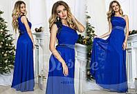 Нарядное длинное платье через одно плечо