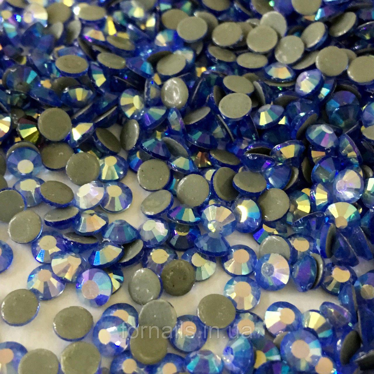 Стразы lt.sapphire ab ss4 (1.5-1.7 мм),100 шт
