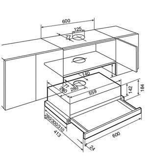 Вытяжка кухонная Teka TL1 62 черный 40474232, фото 2