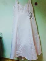Вечернее нежно-розовое платье