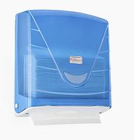Диспенсер на 300 бумажных полотенец Z сложение, АБС пластик, цвет голубой