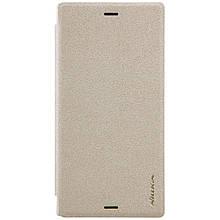 Чехол книжка Nillkin Sparkle Series для Sony Xperia XZ XZS Dual F8332 золотой