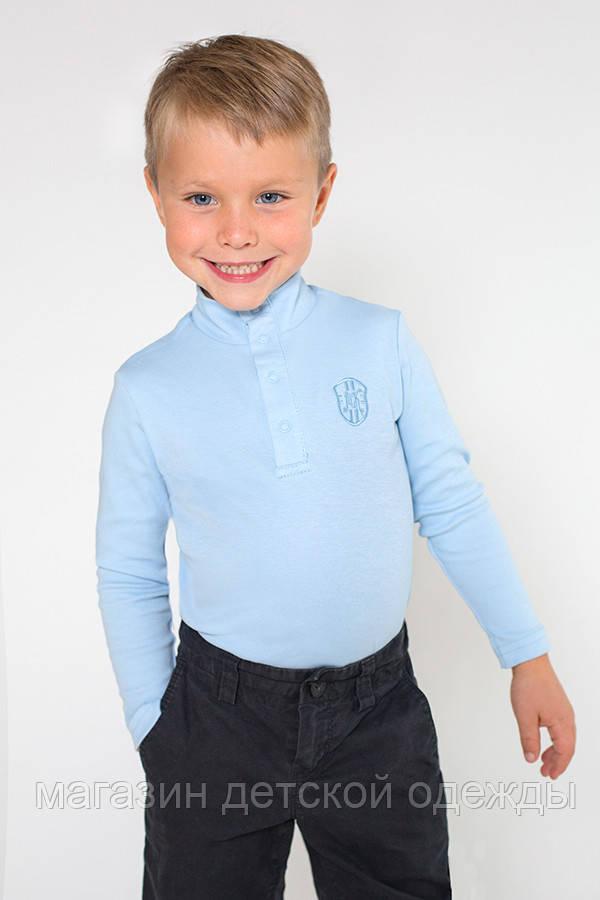 Детский гольф для мальчика на застежке (голубой)