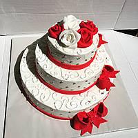 """Торт на весілля """"Малинове щастя"""" на замовлення"""