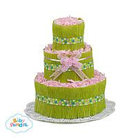 """Торт из подгузников """"Green flower"""""""