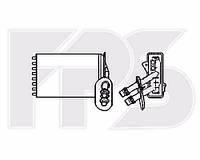 Радиатор печки Skoda Octavia (Шкода Октавия) 97-10 (1U2/1U5) производитель FPS