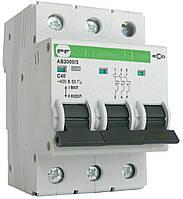 Автоматический выключатель ECO AB2000 3р 25А 6кА