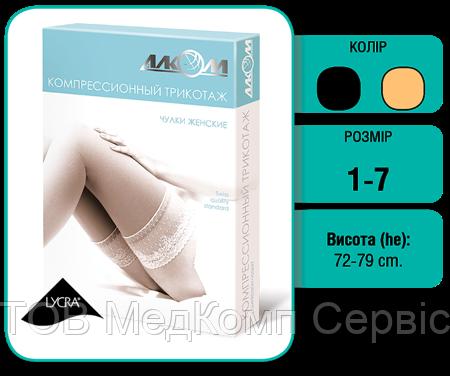 Панчохи жіночі компресійні лікувальні з відкритим миском 2клас компресії