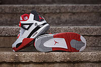 КРОССОВКИ NIKE AIR JORDAN 4 FIRE RED 2012 WHITE