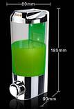 Дозатор для жидкого мыла настенный стекло с металом для магазина кафе ресторана супермаркета, фото 2
