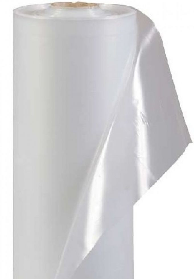 Плёнка белая полиэтиленовая прозрачная тепличная 6 м * 50 м 120 мкм