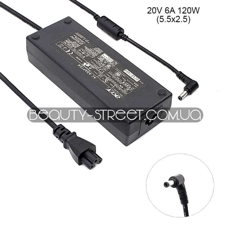 Блок питания для ноутбука Acer 20V 6A 120W 5.5x2.5 (A)