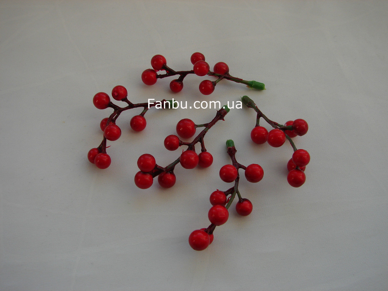 Мини-ветка ягод смородина, h-7 см (1 упаковка- 5 шт), фото 1